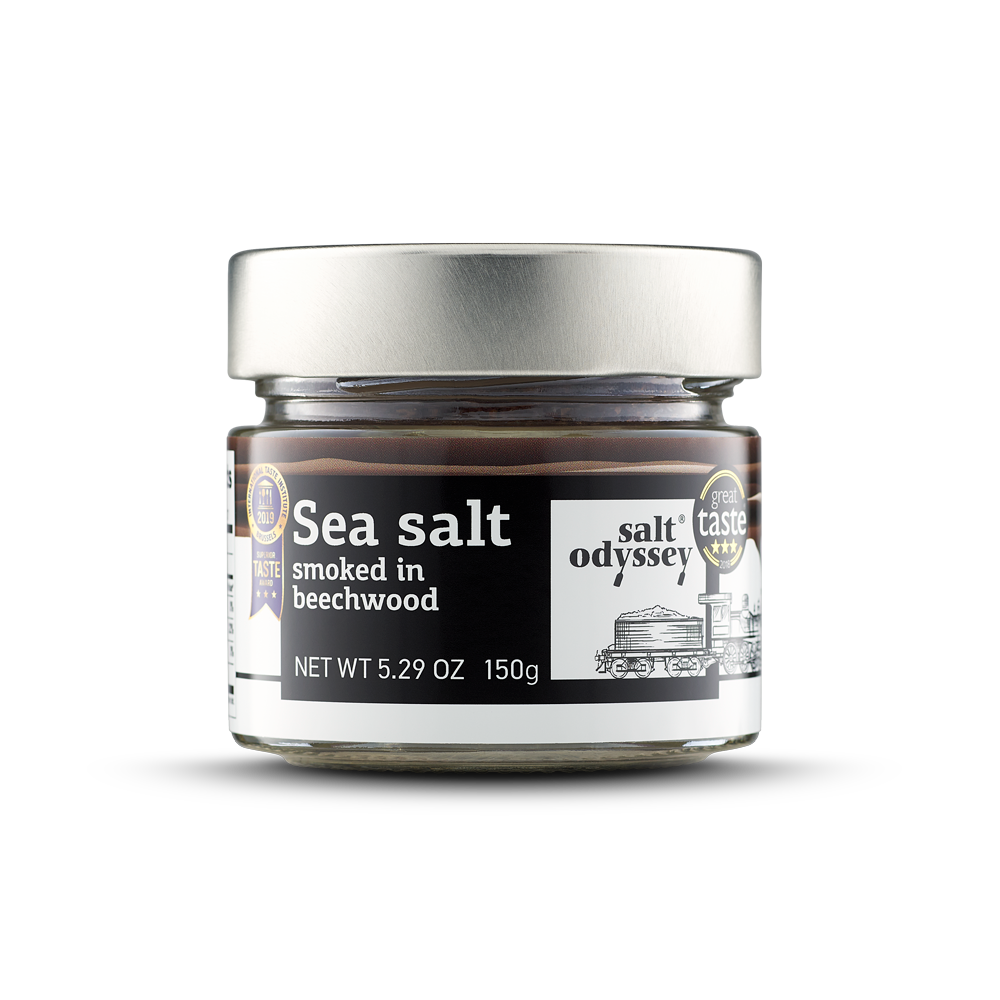 Smoked sea salt from Greece 150gr